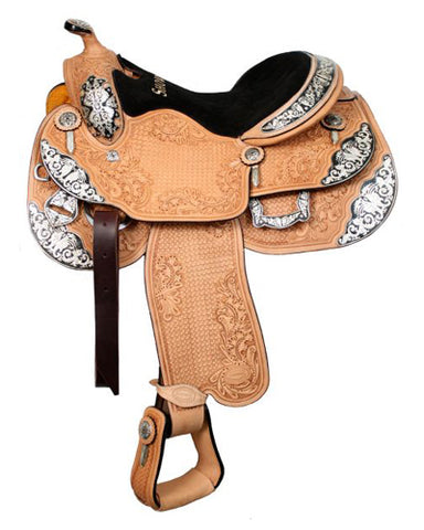 Showman Show Saddle With Matching Headstall - #643316h