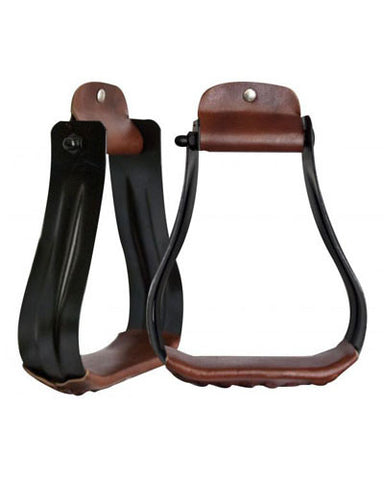 Showman Black Steel Stirrups - #175670