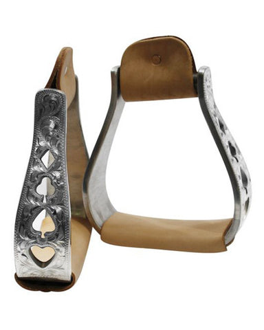 Showman Aluminum Engraved Stirrups - #221363