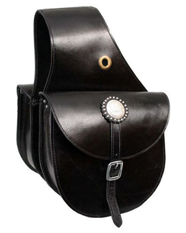 Showman Leather Saddle Bag - #174997