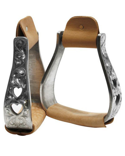 Showman Aluminum Engraved Stirrups - #221361