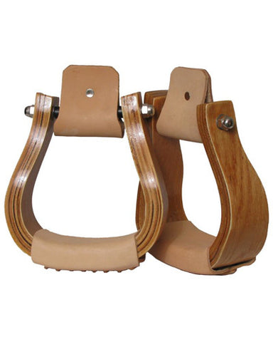 Showman Curved Wooden Stirrups - #221625