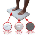 Smart Digital Sensitive Rug Carpet Alarm Clock LED