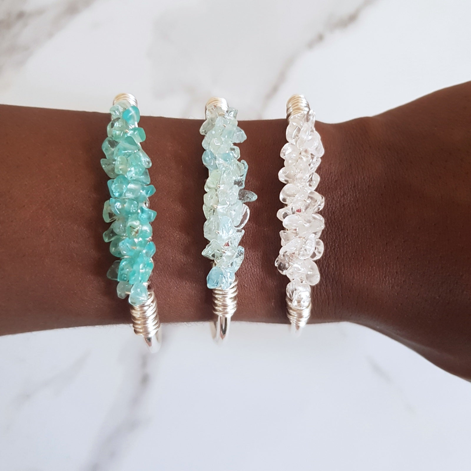 Mermaid Cuff- Amazonite