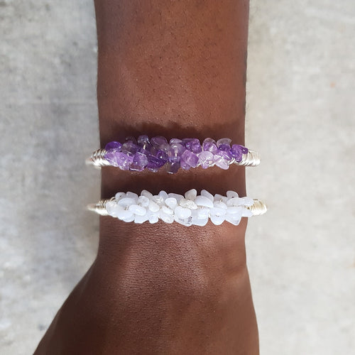 Mermaid Cuff- Amethyst