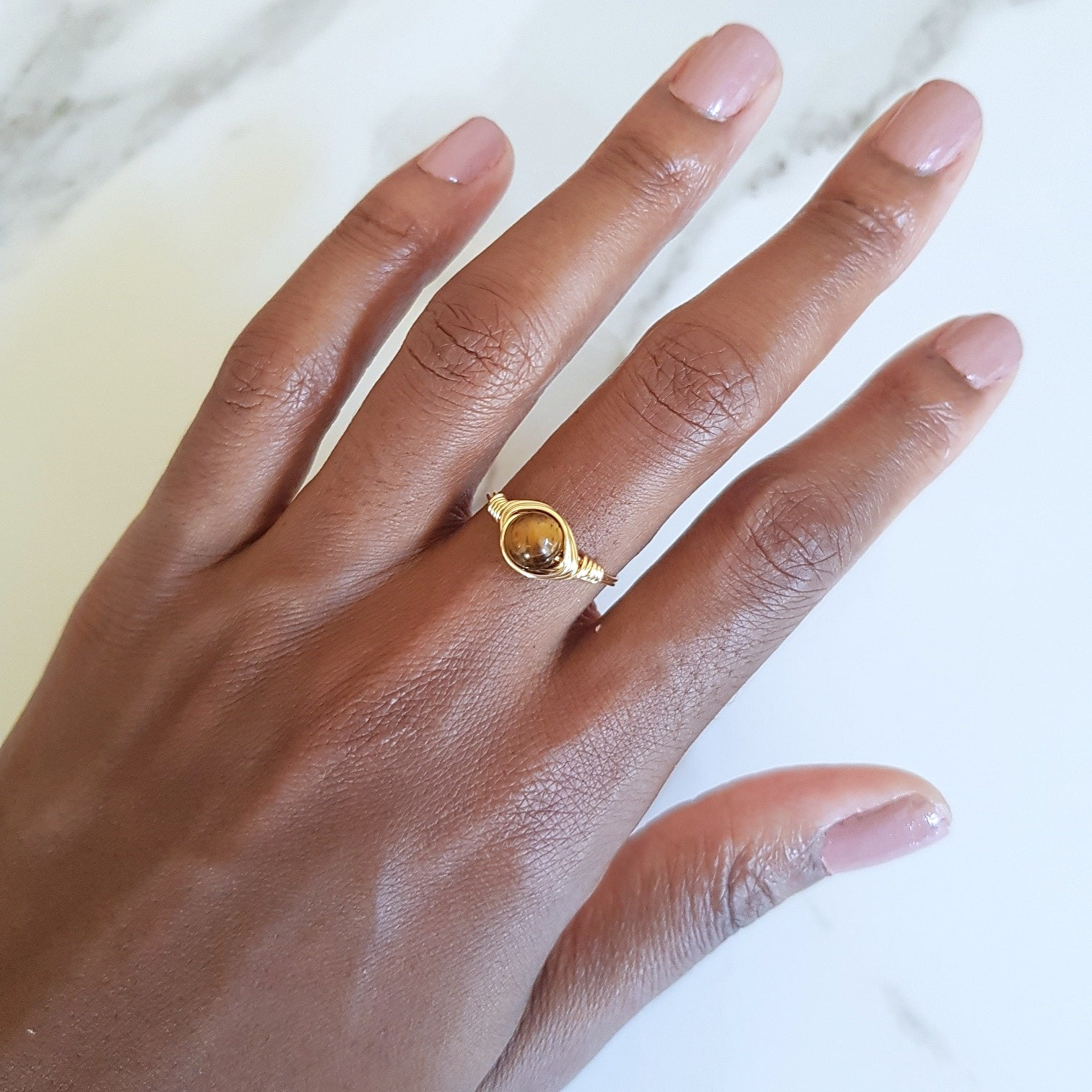 Moon Ring - Tiger's Eye