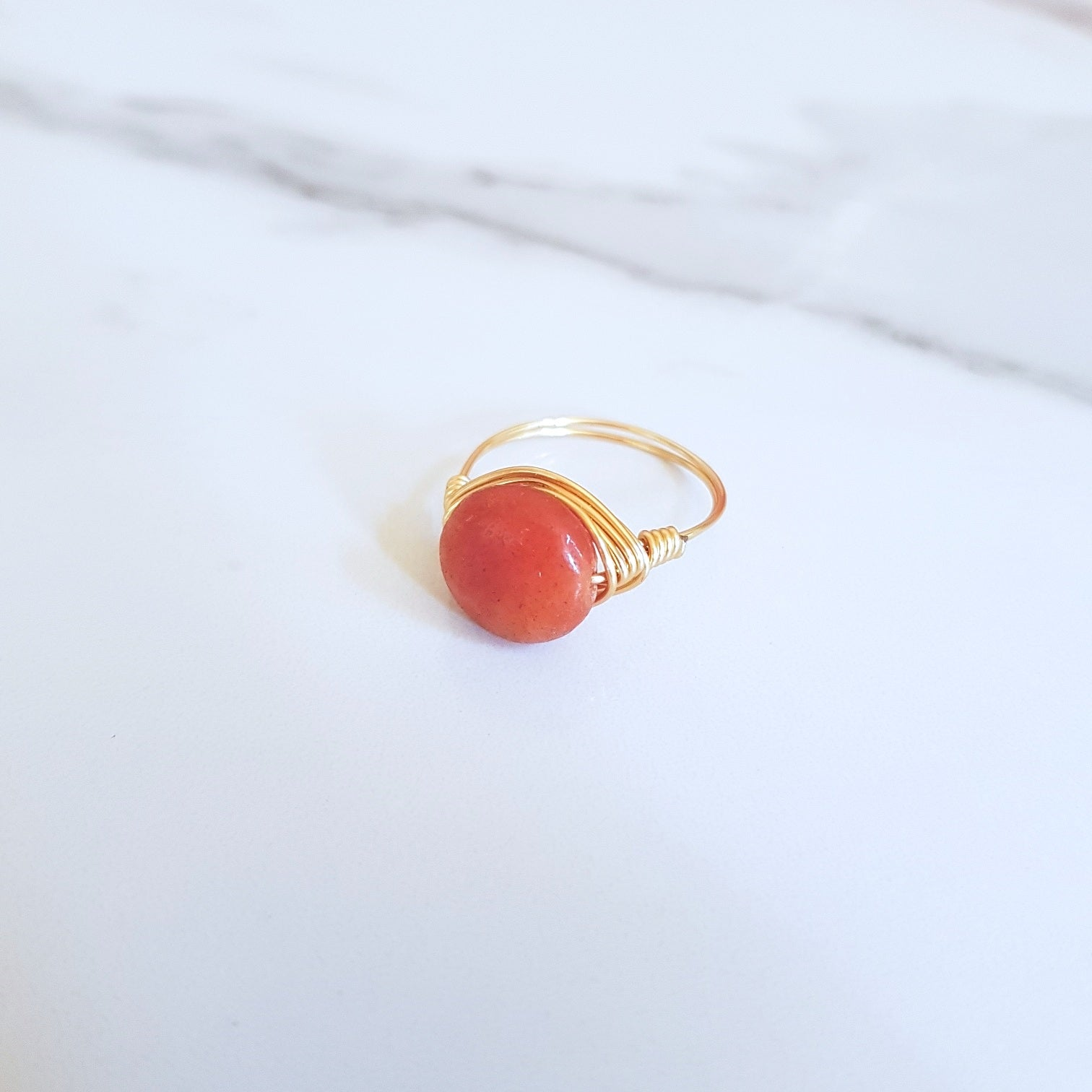Ray Ring- Red Aventurine