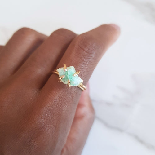 Claw Ring - Amazonite (OAK)