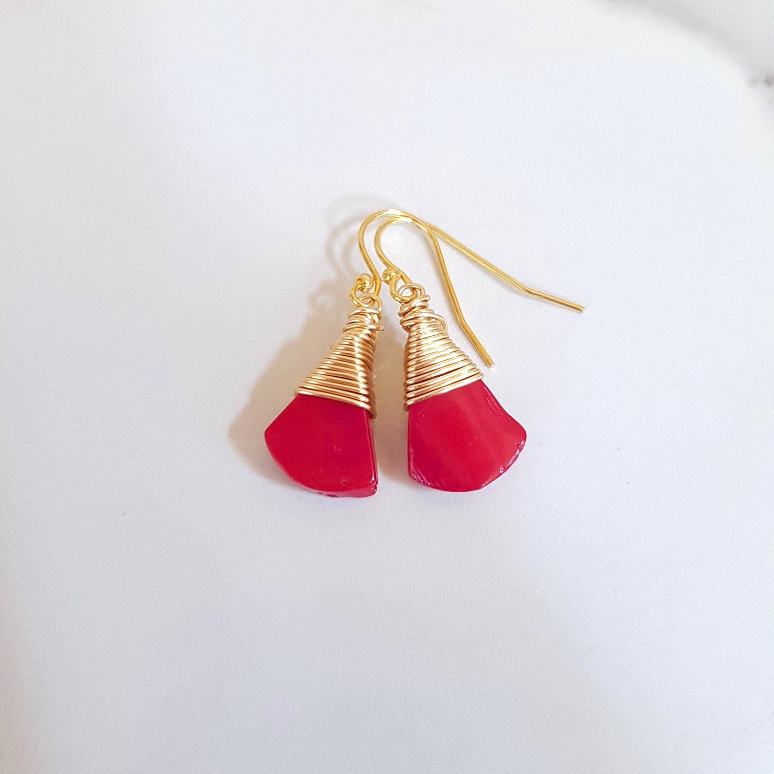 May Earrings - Red Coral