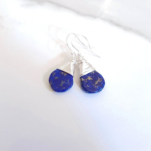 Third Eye Earrings - Lapis Lazuli