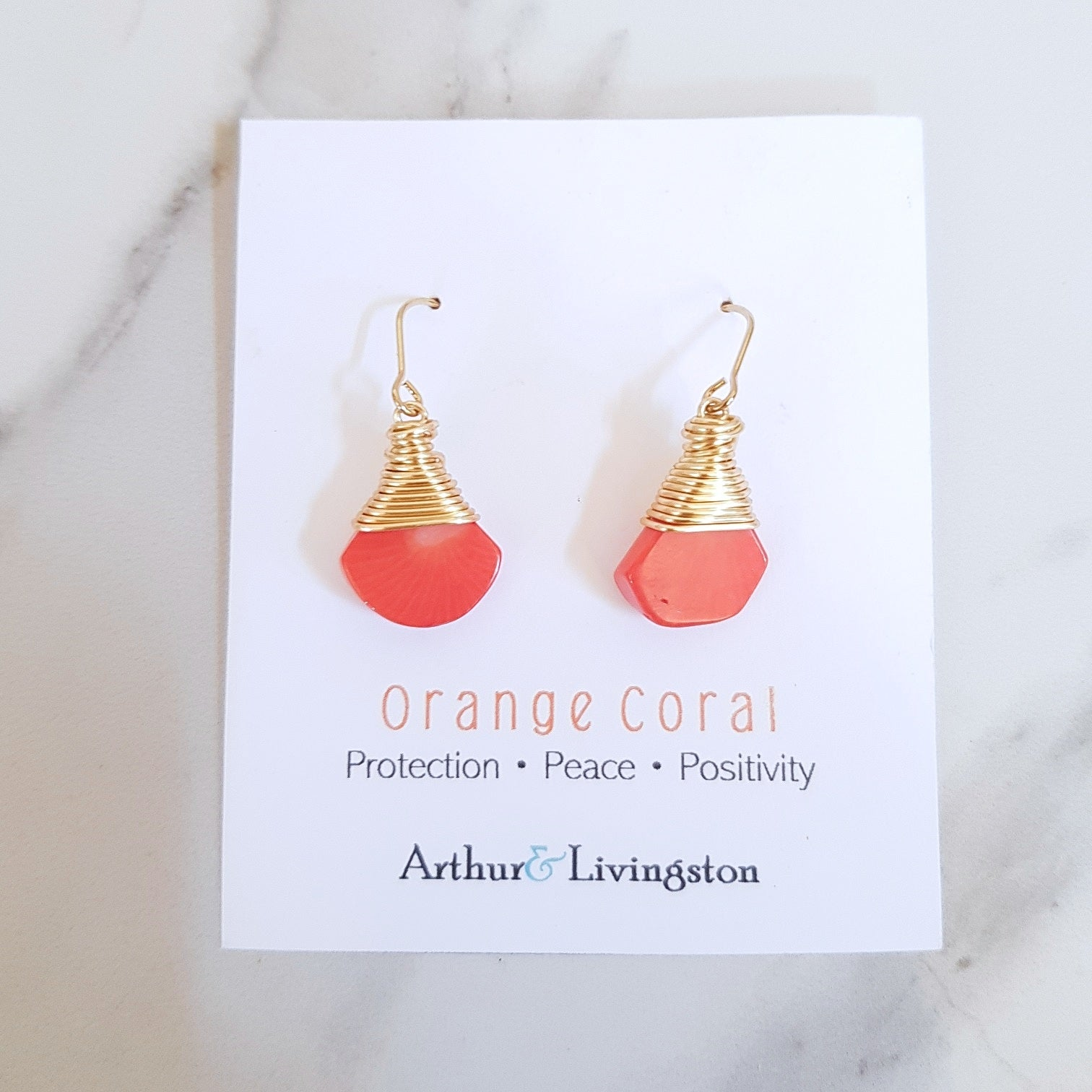 May Earrings - Orange Coral