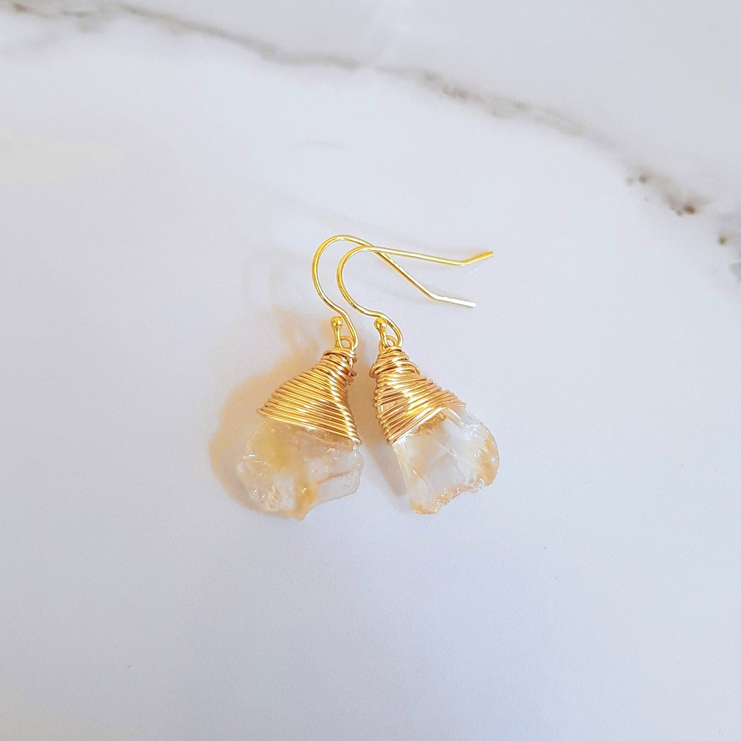 Haze Earrings - Citrine