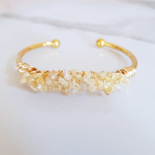 Mermaid Cuff- Citrine