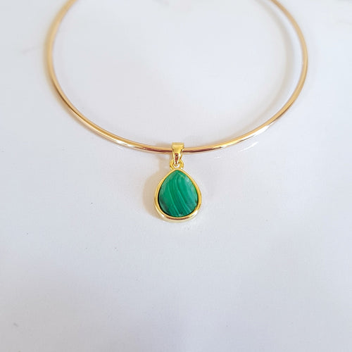 Charm Bangle - Malachite