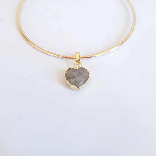 Charm Bangle - Labradorite