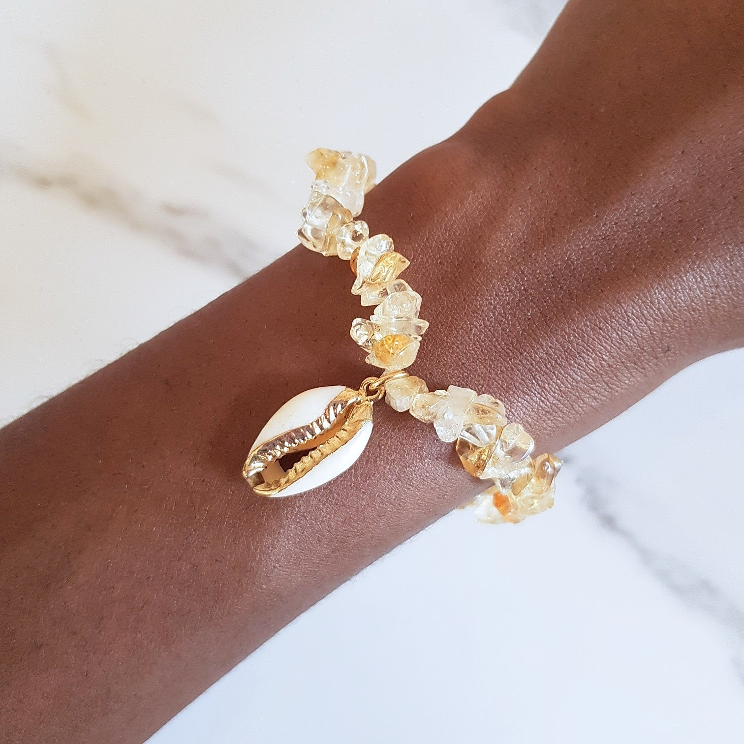 Charm Stretch Bracelet - Citrine