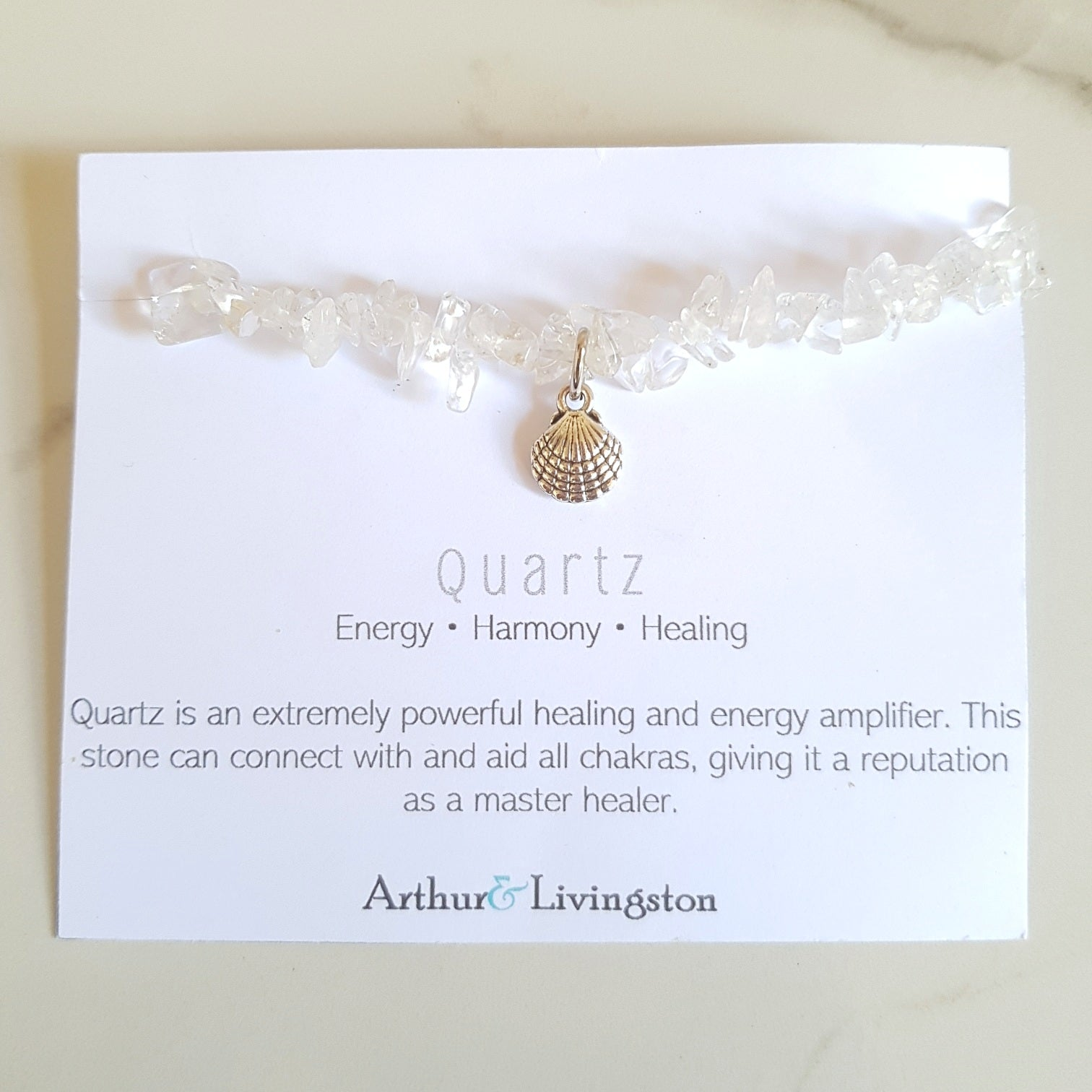 Charm Stretch Bracelet - Clear Quartz