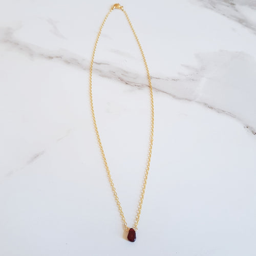 Spice Dainty Necklace - Garnet