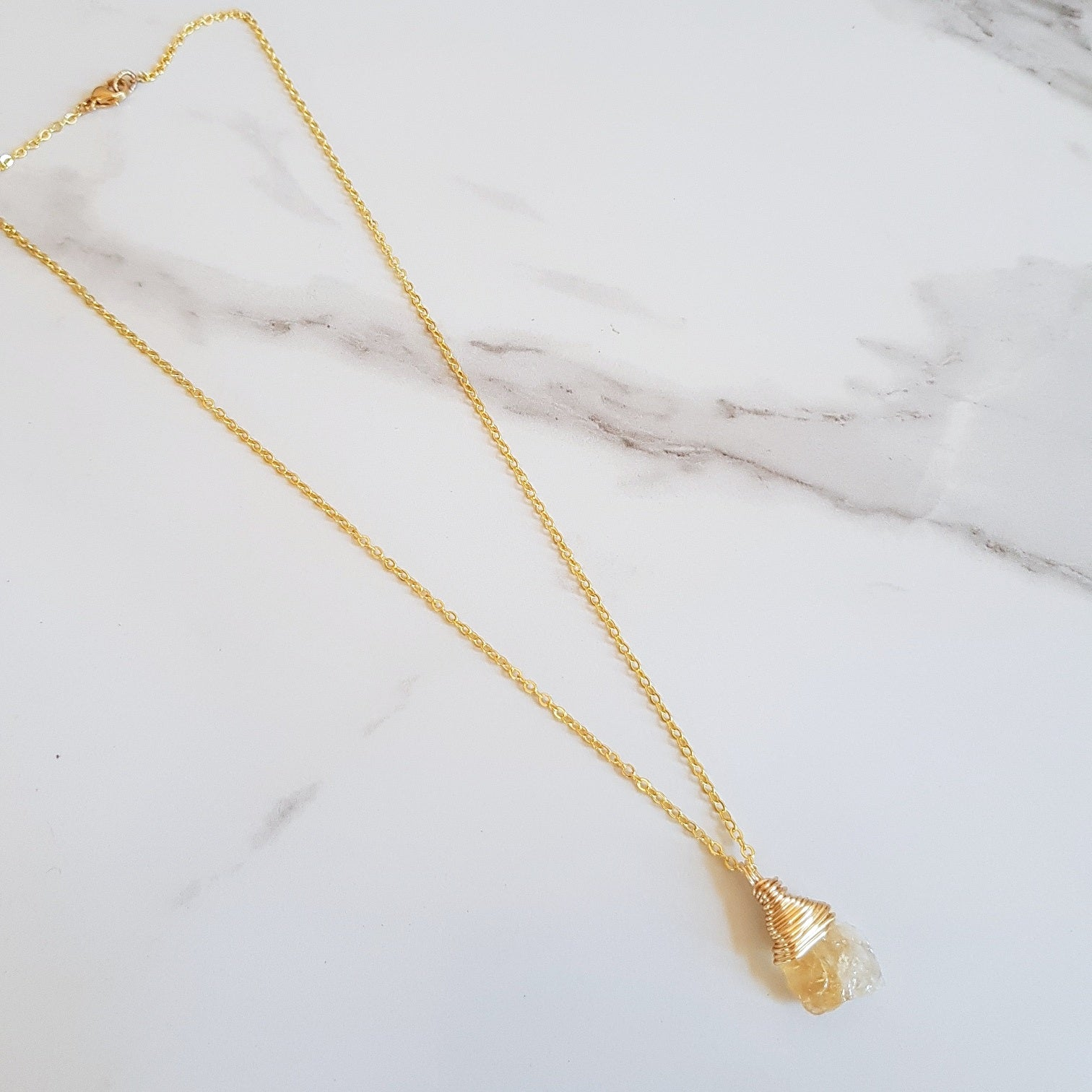 Haze Dainty Necklace - Citrine