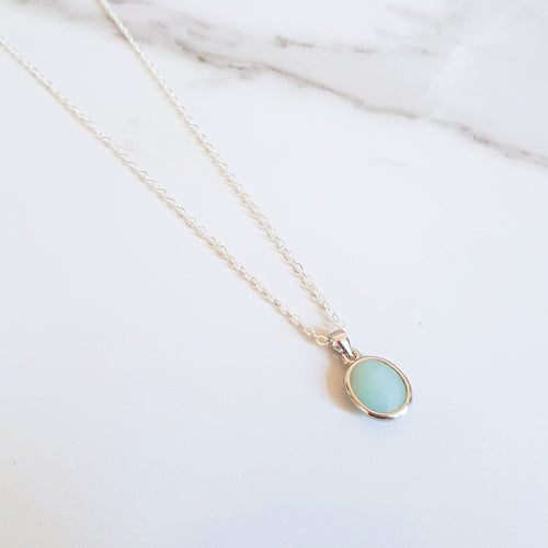 Ocean Dainty Necklace - Amazonite