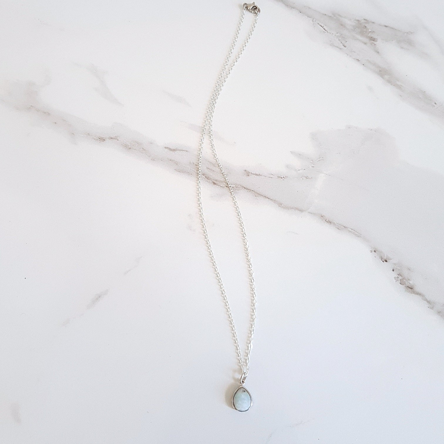 Hope Dainty Necklace - Aquamarine