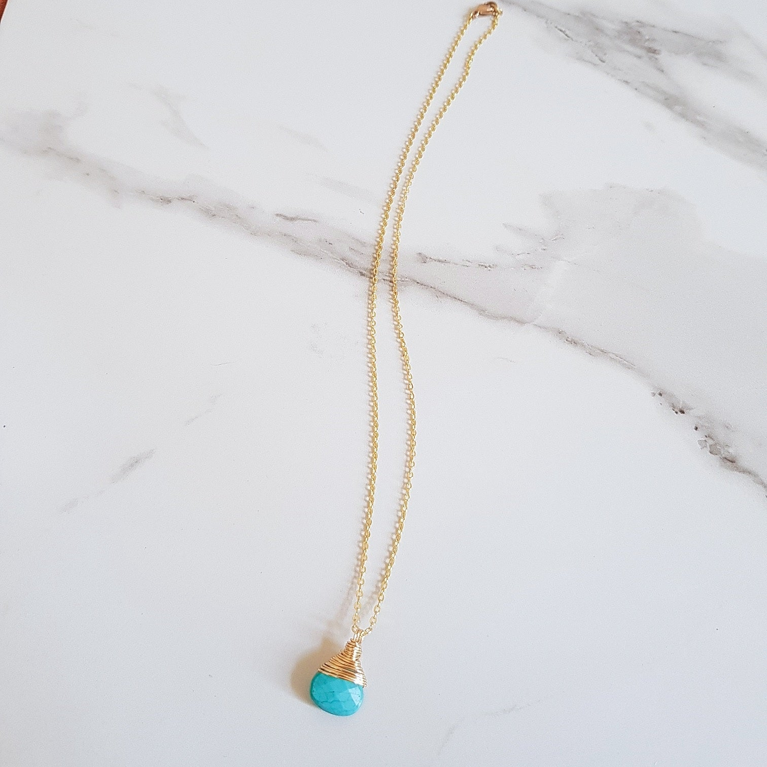 Bay Dainty Necklace - Turquoise