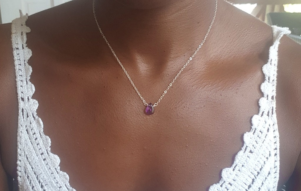 Spirit Dainty Necklace - Amethyst
