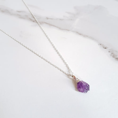 Wise Dainty Necklace - Amethyst