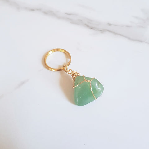 Gemstone Keyring - Orange Calcite