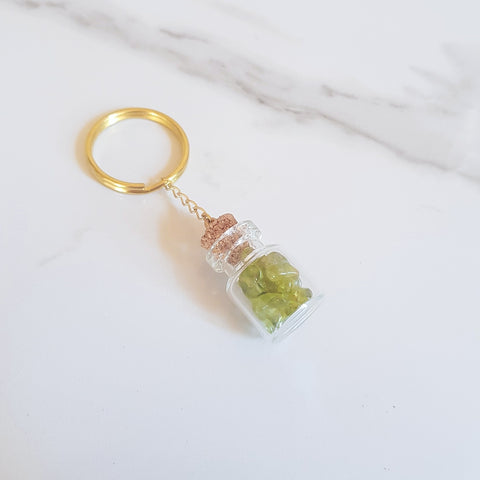 Bottled Gemstone Keyring - Citrine