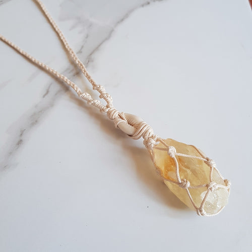 Goddess Necklace - Citrine