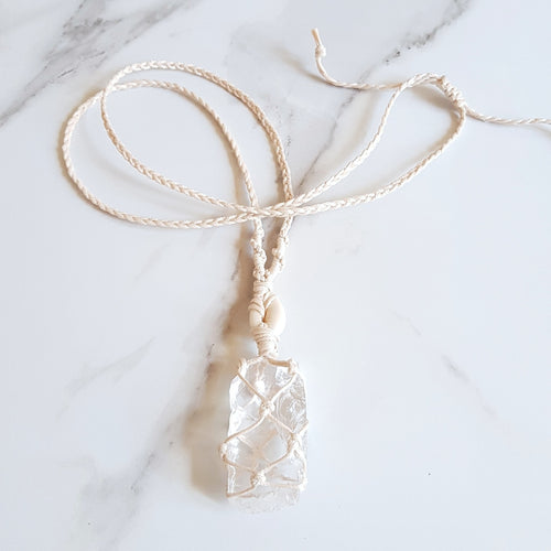 Goddess Necklace - Clear Quartz
