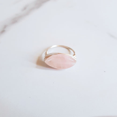 Romance Ring - Rose Quartz