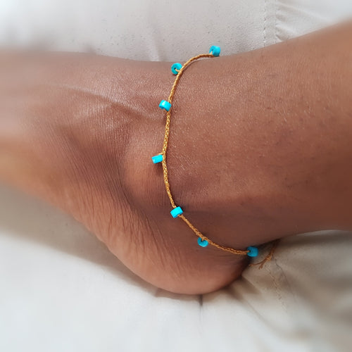 String Anklet - Turquoise