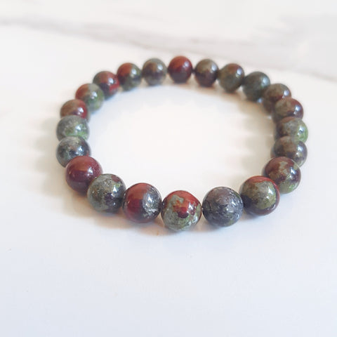 Stretch Bracelet - Moss Agate (OAK)