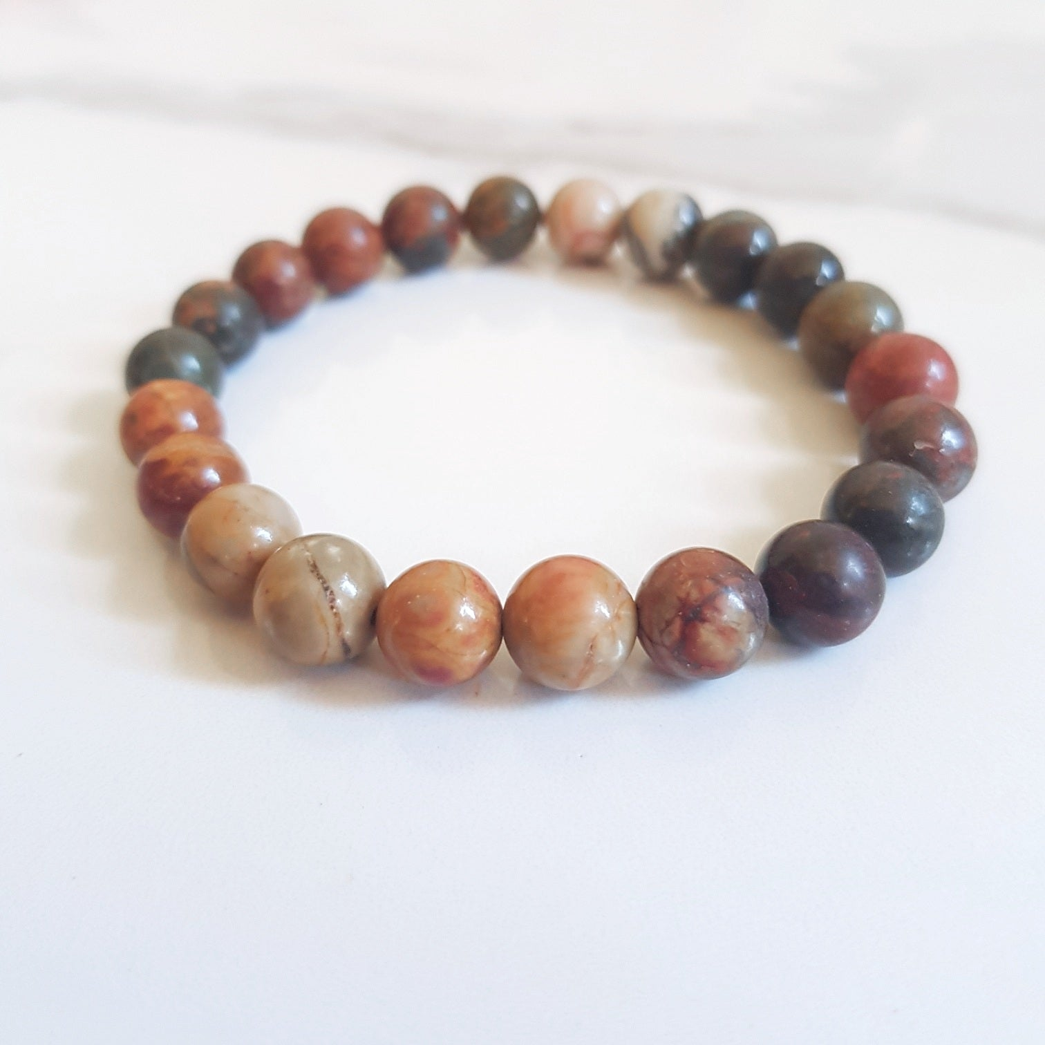 Stretch Bracelet - Mixed Jasper (OAK)