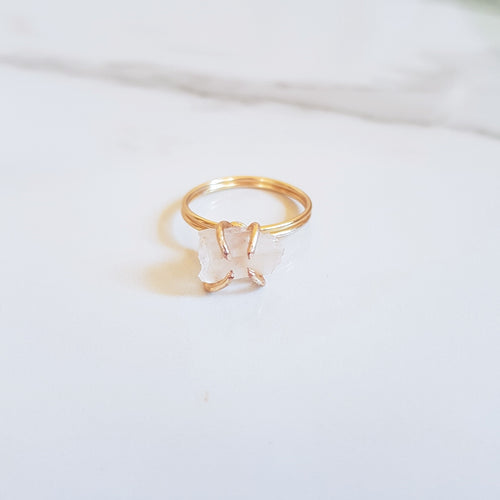 Claw Ring - Clear Quartz (OAK)