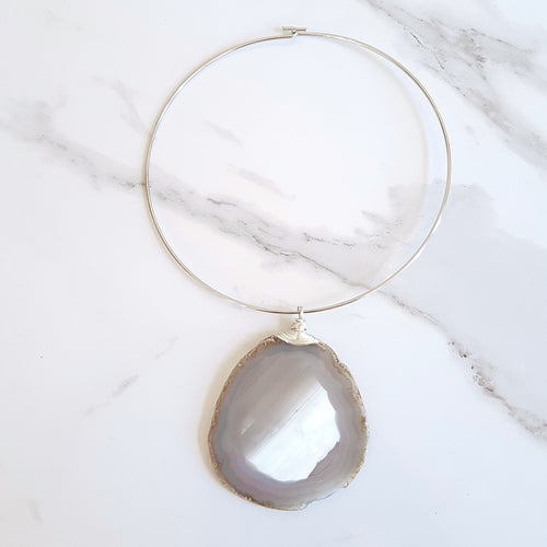 St. James Choker - Grey Agate