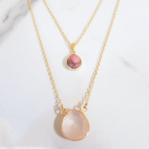 Goddess Necklace - Rose Quartz