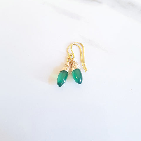 Earth Earrings- Druzy & Amazonite (OAK)