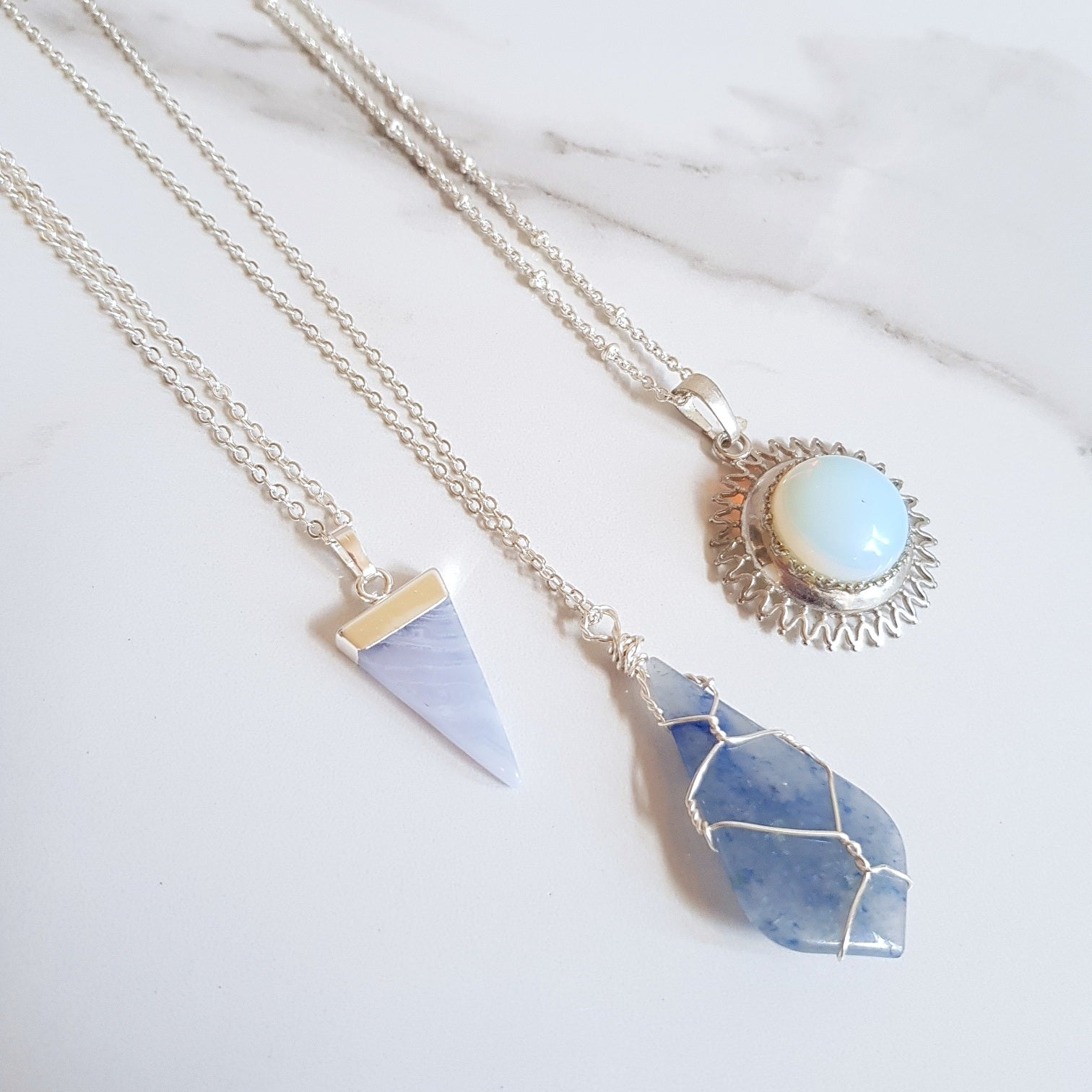 SALE Necklaces- Blues