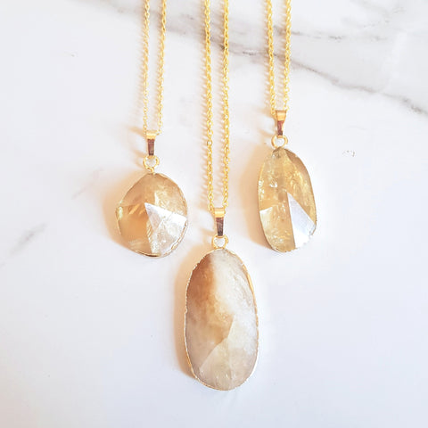 White Gemstone Necklaces