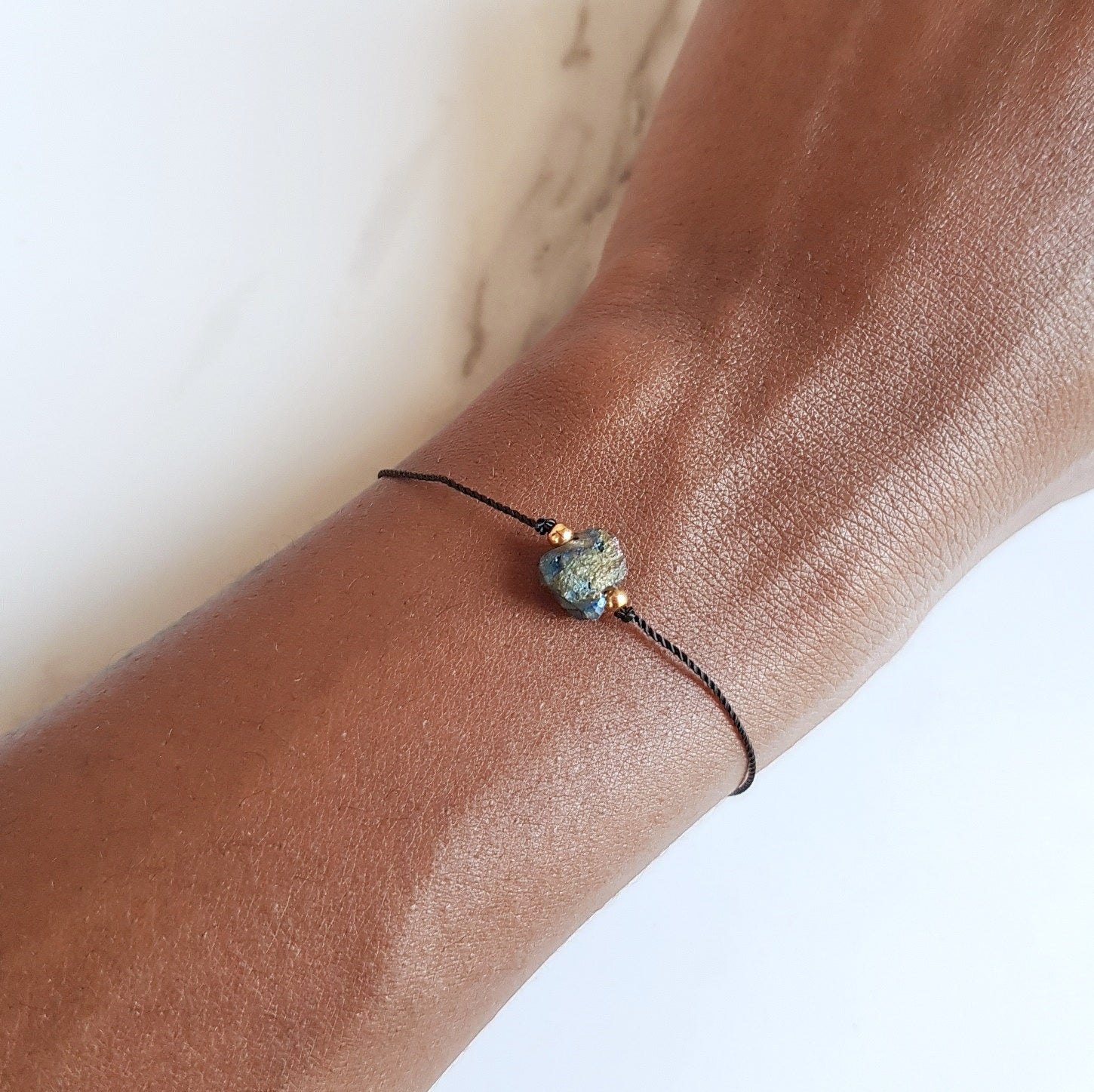 Nylon Bracelet - Rainbow Quartz