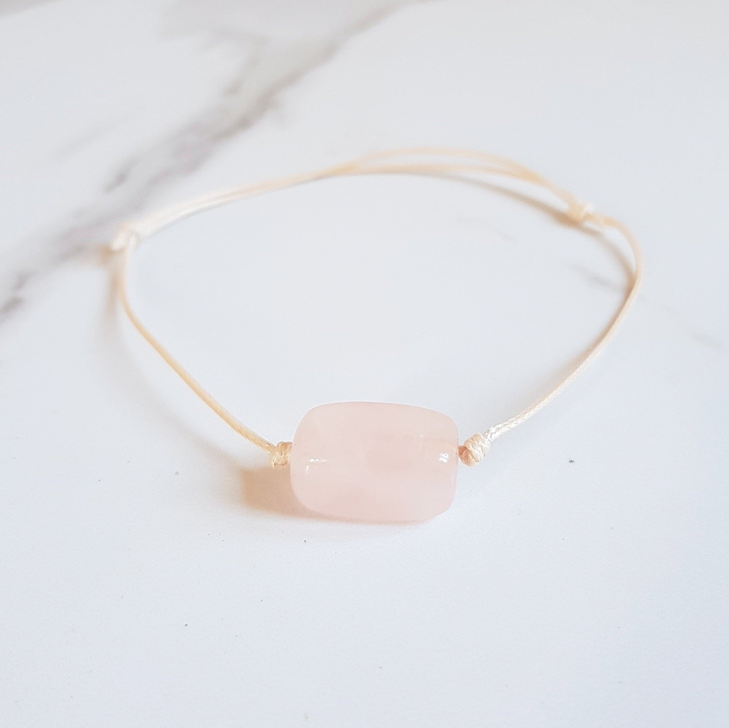 Gemstone Anklet - Rose Quartz