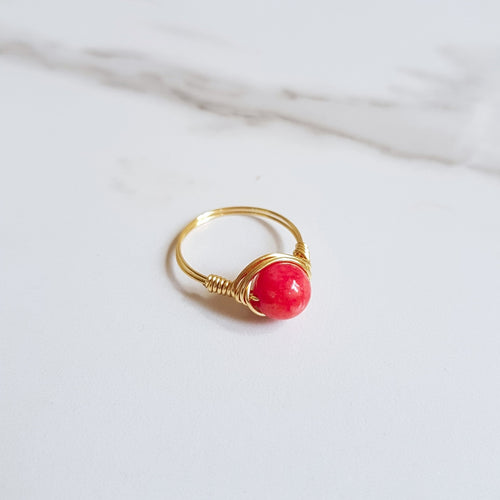 Tide Ring- Red Jade