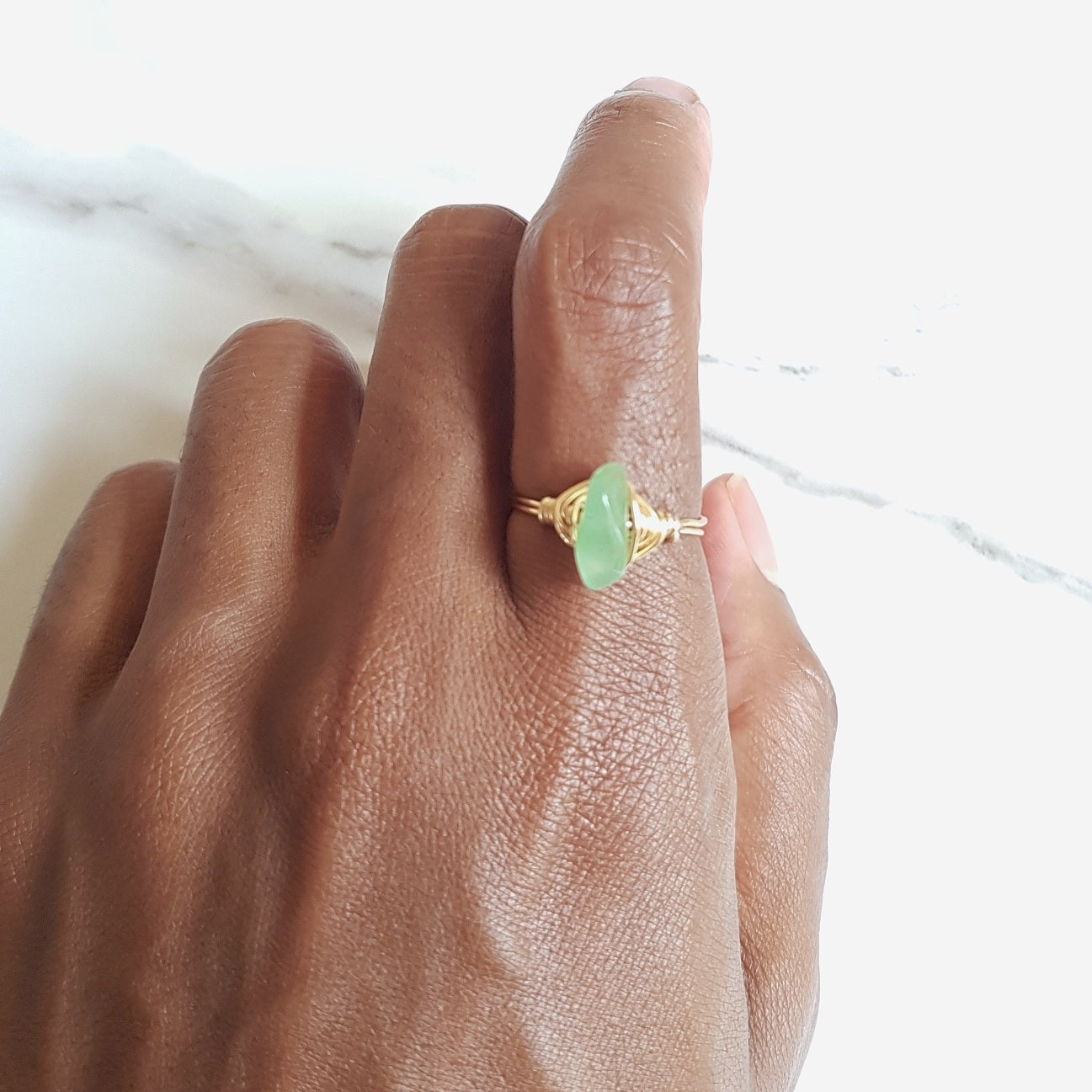 Lucky Ring - Green Aventurine