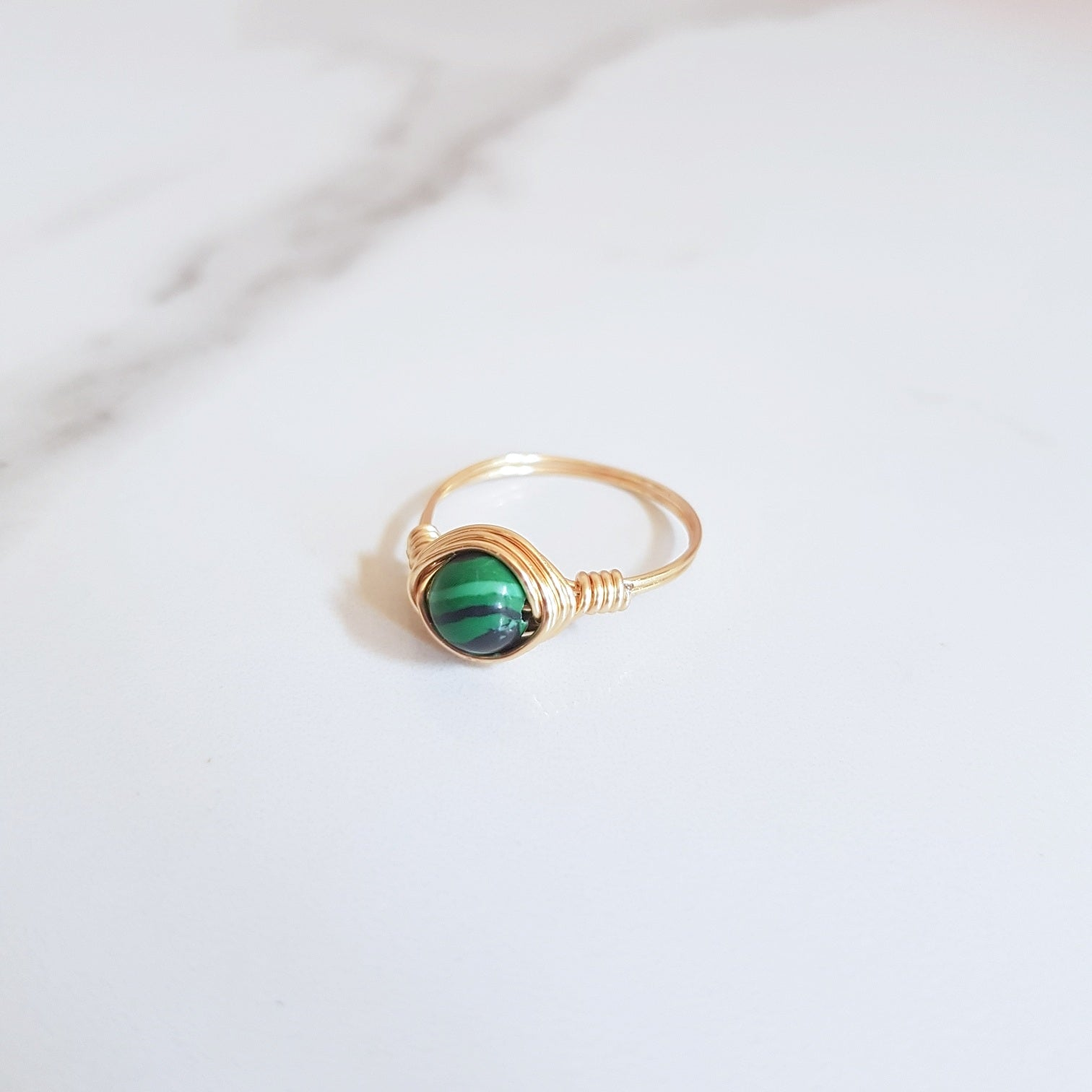 Moon Ring - Malachite