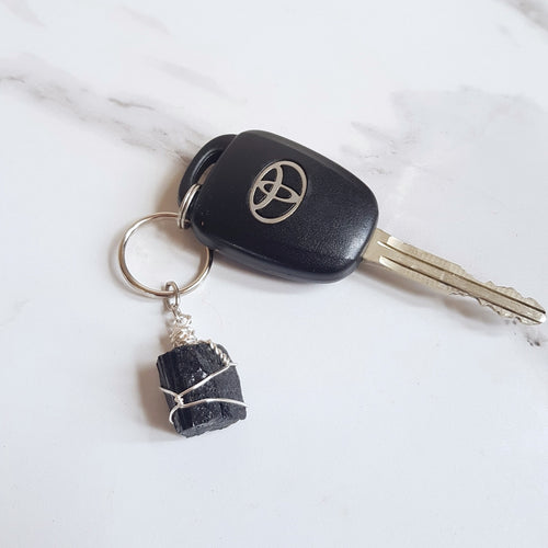Gemstone Keyring - Black Tourmaline