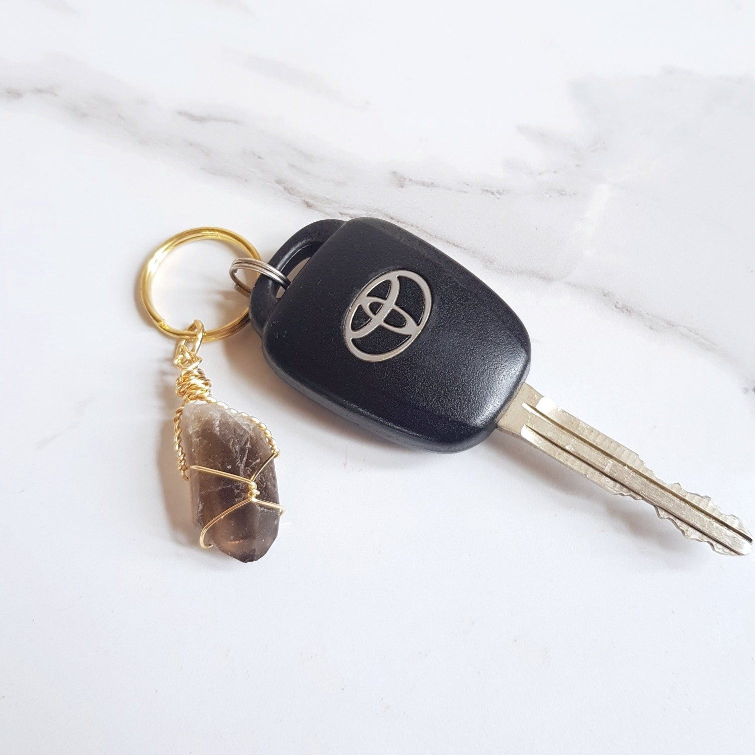 Gemstone Keyring - Smokey Quartz