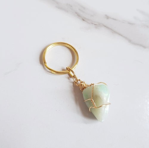 Gemstone Keyring - Amazonite